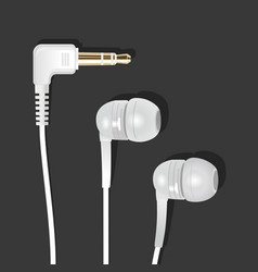 Vacuum earphones white l vector