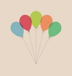 Vintage balloons isolated on beige vector