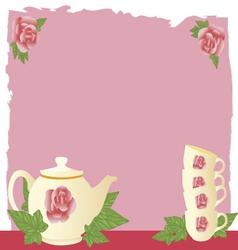 Vintage tea vector
