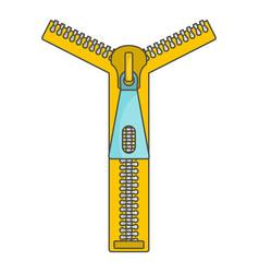 Zipper icon cartoon style vector