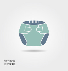 baby blue diaper vector image