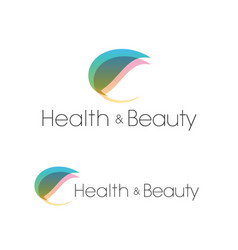 leaf health and beauty spa salon logo template vector image