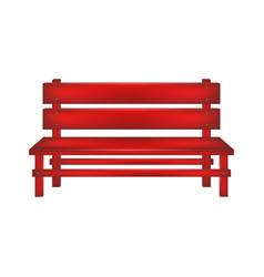 Rural bench in red design vector
