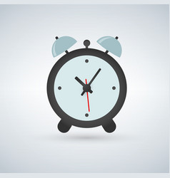 alarm clock wake-up time isolated on light vector image
