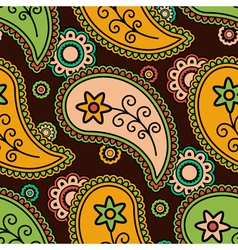 Colorful paisley pattern vector image