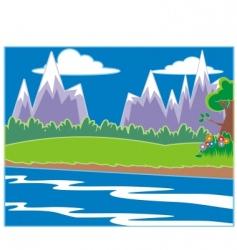 landscape vector image vector image