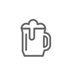 simple beer mug line icon symbol and sign vector image vector image