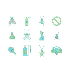 cartoon color no insects set vector image