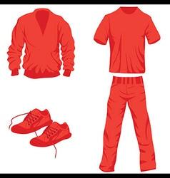 Clothes icon fashion set collection vector image vector image