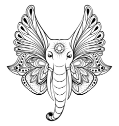 elephant with wings instead ears vector image