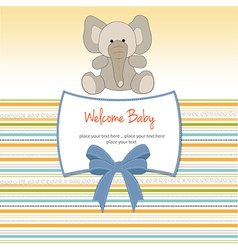 new baby arrived card vector image vector image