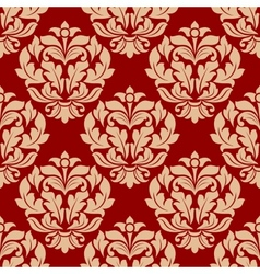 Retro beige floral seamless pattern vector image