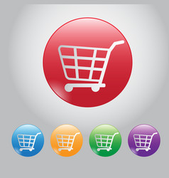design button buy online web botton and icon cart vector image vector image