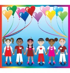 heart balloon kids vector image