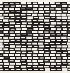 Seamless black and white irregular dash vector