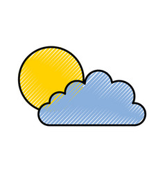 sun and cloud icon vector image vector image