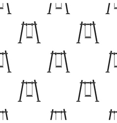 Swing icon in black style isolated on white vector image