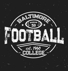 american football retro icon of students league vector image