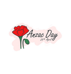 Anzac day symbol of red vector