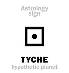 Astrology hypothetic planet tyche vector