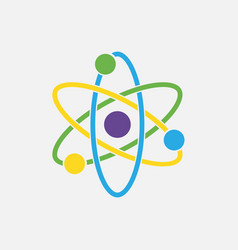 Atom icon nuclear icon electrons and protons vector