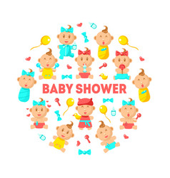 bashower banner template cute arrival vector image