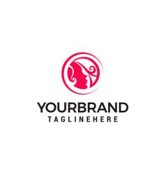beauty salon logo designs template vector image