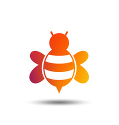 Bee sign icon honeybee or apis symbol vector