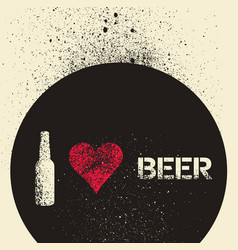 Beer typographic stencil spray grunge poster vector