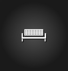 bench icon flat vector image
