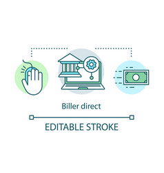 Biller direct service concept icon online one vector