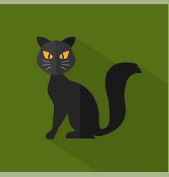 black cat icon set of great flat icons design vector image