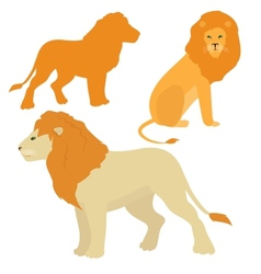 Cartoon lions set vector