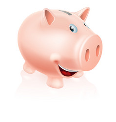 cartoon piggy bank vector image