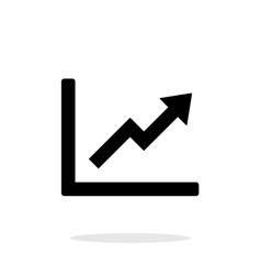 Chart up icon on white background vector