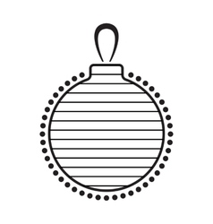 Christmas Ball Black And White Icon vector