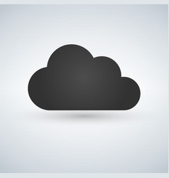 cloud computing icon server network technology vector image