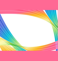 colorful curve elements on white background vector image