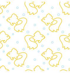 contour gold fish pattern vector image