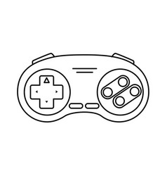 Control game nineties style isolated icon vector
