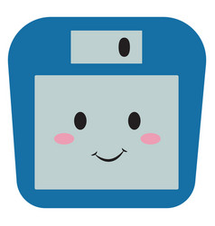 cute floppy disk on white background vector image