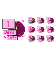days left badges vector image