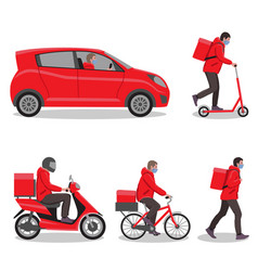 delivery service set delivery home and office to vector image