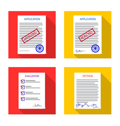 Design of form and document sign set of vector