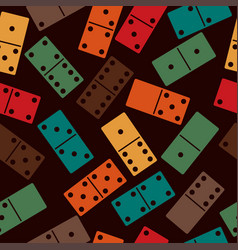 domino stones seamless pattern dominoes game vector image