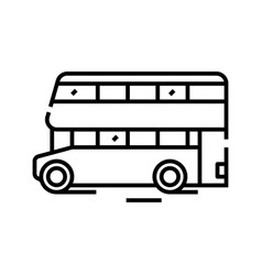 double decker bus line icon concept sign outline vector image