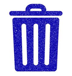 Dustbin icon grunge watermark vector