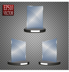 empty glass award isolated transparent trophy vector image