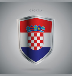 europe flags series croatia modern icon vector image