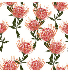 floral seamless tropical pattern vector image